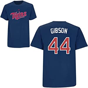 Kyle Gibson Minnesota Twins Navy Player T-Shirt by Majestic by Majestic