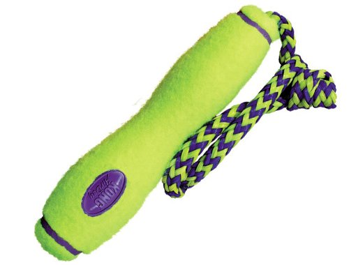 Kong Air Dog Fetch Stick With Rope Dog Toy, Large, Yellow