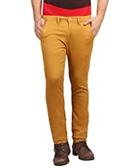 FN Jeans Stylish Gold Slim Fit Low Rise Chinos For Men | FNJ9142