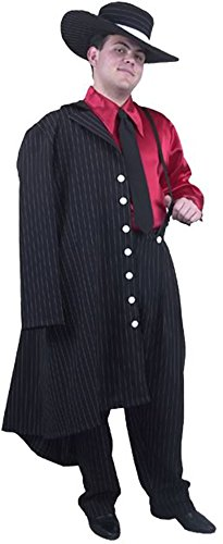 Adult Zoot Suit Costume Size: Large :Color: White/Black