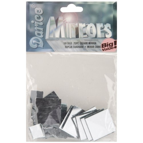 Square Glass Mirror Assorted Sizes, 25/Pkg