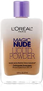 L'Oreal Paris L'Oreal Paris Magic Nude Liquid Powder Bare Skin Perfecting Makeup SPF 18, True Beige, 0.91 Ounces