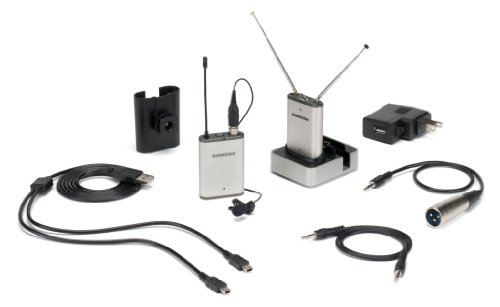 Samson Airline Micro Camera Mountable Wireless Lavalier Microphone System - Samson Model SWAM2SLM10 Frequency Channel N1 (642.375 MHz)