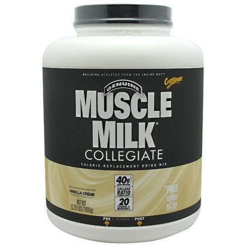 Muscle Milk 5.29 lbs (2400 g) Vanilla Creme Meal Replacements Supplements CytoS