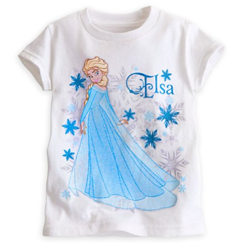 Disney Disney Frozen White Elsa Tee for Girls - Size XXS (2/3)