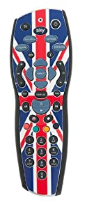 Sky+HD Remote Control with Union Jack design sealed in Official Sky Branded Retail Packaging, including Duracell Batteries and Manual - SKY121