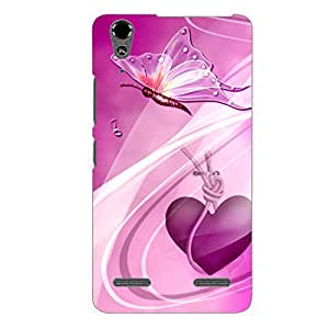 Clapcart Butterfly Printed Back Cover for Lenovo A6000 and Lenovo A6000 Plus -Multicolor