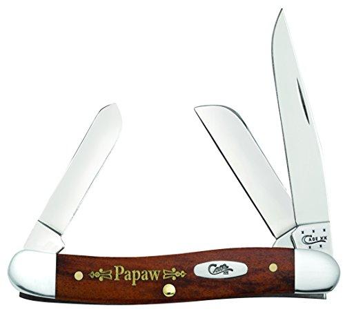 Case Cutlery CA10374 Papaw Stockman 6318SS Pattern Hunting Knives, Medium,