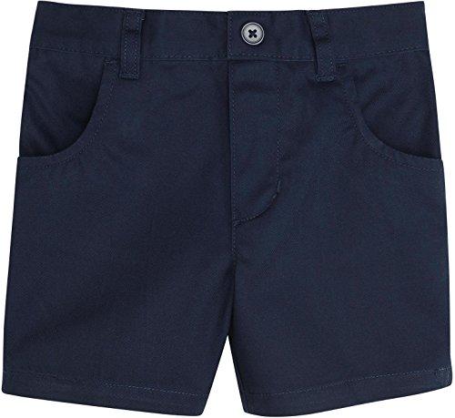 FRENCH TOAST School Uniforms Girls Pull-On Shorts - H9112 - Navy, 8