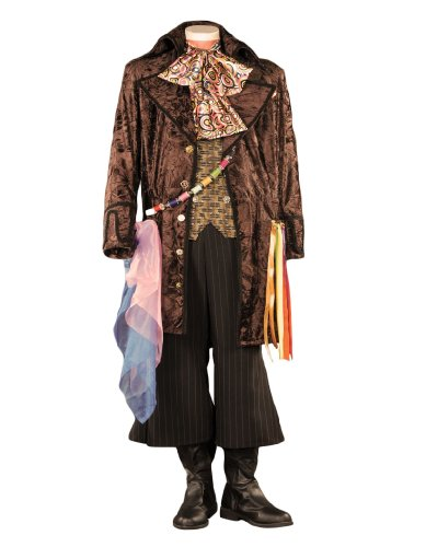 Tabi's Characters Men's Alice in Wonderland Mad Hatter Theatrical Costume
