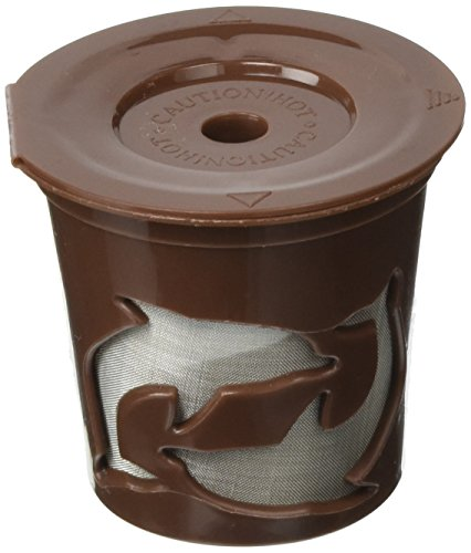 Cafefill Keurig K Cup Reusable Refillable Coffee Filter Pod (1-Unit), Brown (Pod Coffee Refills compare prices)