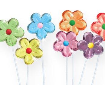 Twinkle Flower Lollipops - 12 Count