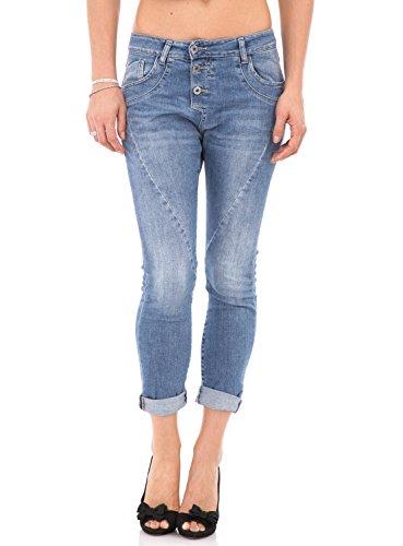 PLEASE - P78a jeans pantaloni baggy boyfriend 5 tasche da donna xxs denim chiaro