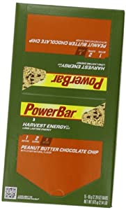 PowerBar Harvest Energy Bars, Peanut Butter Chocolate Chip, 2.29-Ounce Bars (Pack of 15)