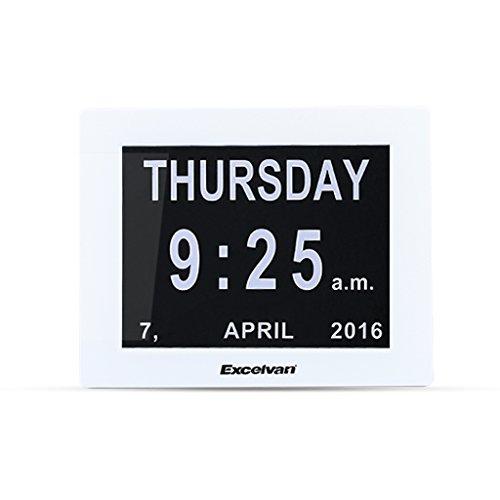 """Excelvan 8"""" Calendario Sveglia Digitale Orologio da Tavolo Digitale con LED Oscuramento Automatico"""