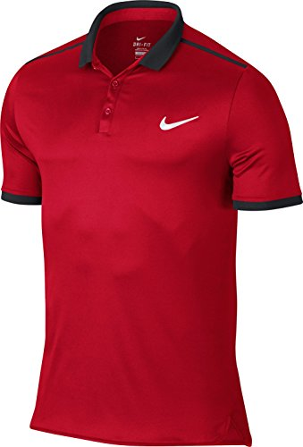 Nike Men's Advantage Solid Polo Shirt Large Red Black (Nike Polo Advantage compare prices)