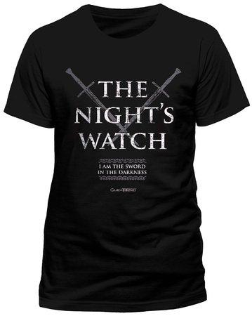 Producto-oficial-de-T-camiseta-de-manga-corta-de-juego-de-nieve-reloj-de-mujer-con-Jon-de-Juego-de-Tronos-NIGHTS-todos-los-tamaos