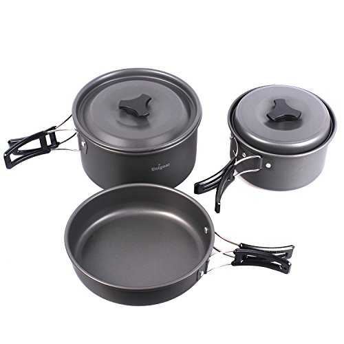 Camping Cookware Outdoor Cooking Equipment Mess kit Backpacking Gear Hiking Fishing Cooking Pan Pot Bowls Set, Compact Durable Folding Lightweight (New 13 in 1) (Peak 1 Backpack Stove compare prices)