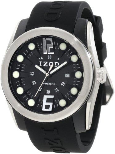 IZOD Men's IZS1/1 BLK Sport Quartz 3 Hand Watch