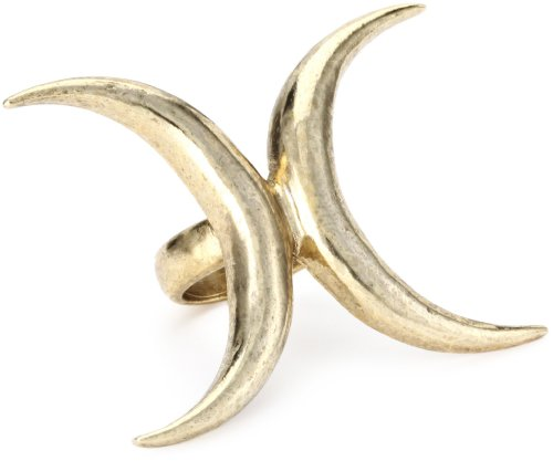 Low Luv by Erin Wasson Gold-Tone Double Crescent Ring, Size 6