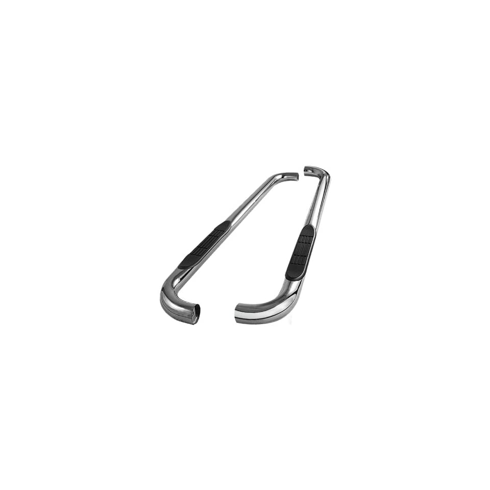 Spyder Auto SSB FEC A07S0529 3 Polished T 304 Stainless Steel Round Side Step Bar for Ford Econoline Van E 350