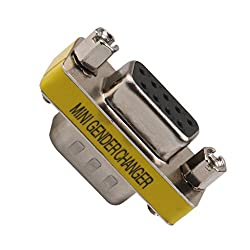 Generic DB9 9-Pin Male to RS-232 Serial Female Gender Changer Coupler Adapter Cable