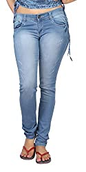 Carrel Bring In Distressed Jeans Stretchable Denim Light Blue Colour For Womens