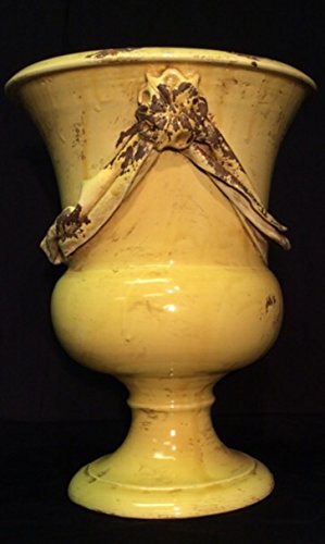 Italian Handmade Decorative Urn in Rustic Gold (Italian Pottery Urn compare prices)