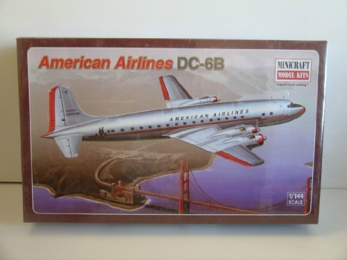 minicraft-model-kits-american-airlines-dc-6b-plastic-model-kit-by-minicraft