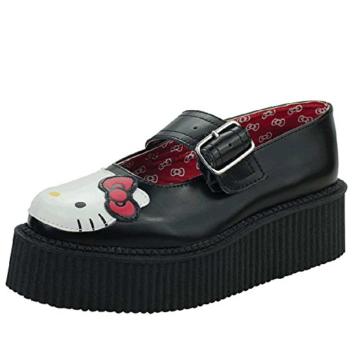 T.U.K. Hello Kitty Mary Jane Creeper Donna US 9 Nero Mary Janes