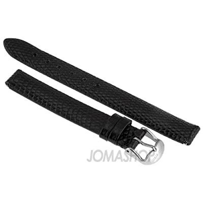 Philip Stein 12mm Black Lizard Strap 4-ZB by Philip Stein