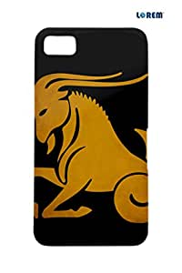 Lorem Back Cover For BlackBerry Z10-Yellow & Black-L27383