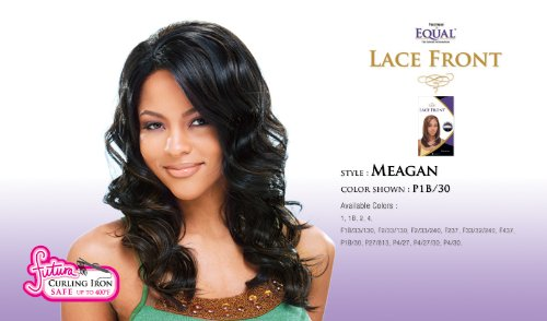 MEAGAN - Shake N Go FreeTress Equal Synthetic Hair Lace Front Wig #1B/30
