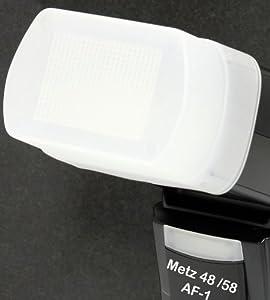 Minadax Diffusor, Weichmacher, Bouncer, Softbox für Metz mecablitz 58 AF-1 digital, Metz mecablitz 48 AF-1 digital