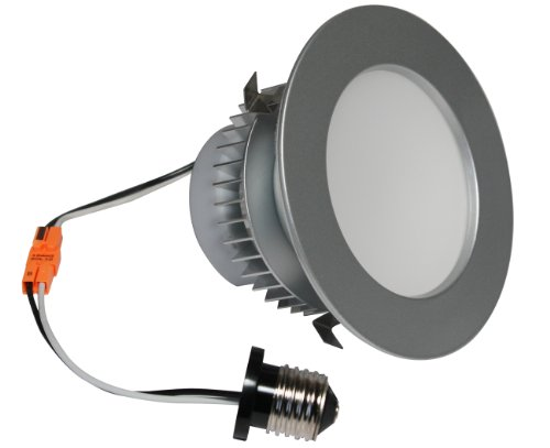 American Lighting Ep4-E26-30-Bs Samsung Led E-Pro Series Recessed Downlight, Dimmable, 7.6-Watts, 525 Lumens, 3000K White, 4-Inch, Brushed Steel front-587134
