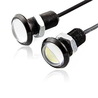 3W 12V LED lampe ampoule Diurne Radar de Recul Eagle Eye Light Blanc Inverse Voiture(une paire)