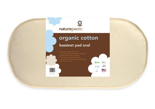 Naturepedic No Compromise Organic Cotton Oval Bassinet Pad Kids, Infant, Child, Baby Products