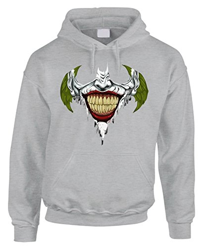 Felpa con cappuccio Joker Smile Batman movie in cotone by Fashwork