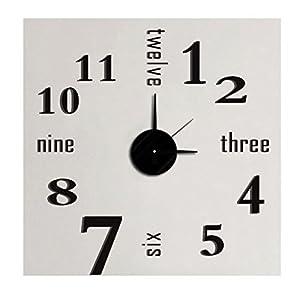 ウォールクロックステッカー DIYデコレーション時計 壁のアレンジ 立体シールで装飾するインテリアクロック (NO.025)