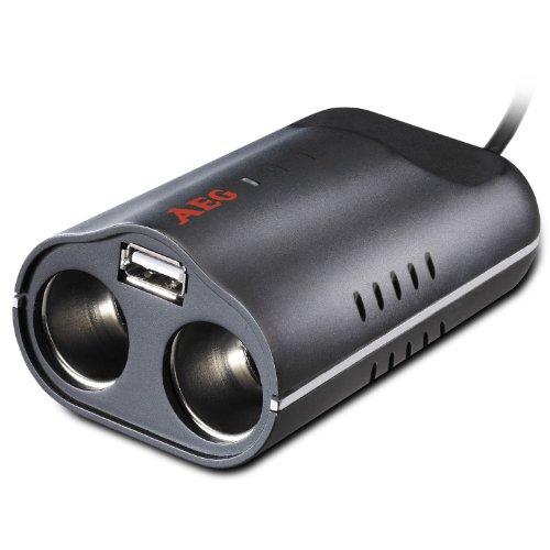 AEG-Automotive-97212-Doppelsteckdose-DB-70-12-Volt-mit-USB-Buchse