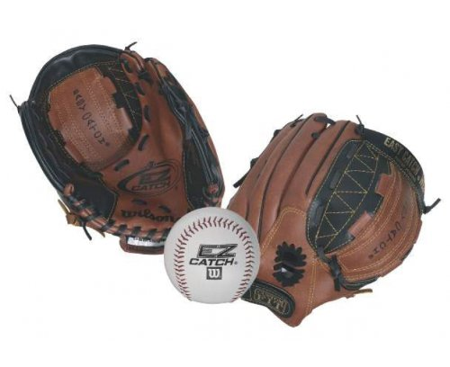 Wilson EZ Catch (With Ball) BaseBall Glove - 10-Inch, Tan