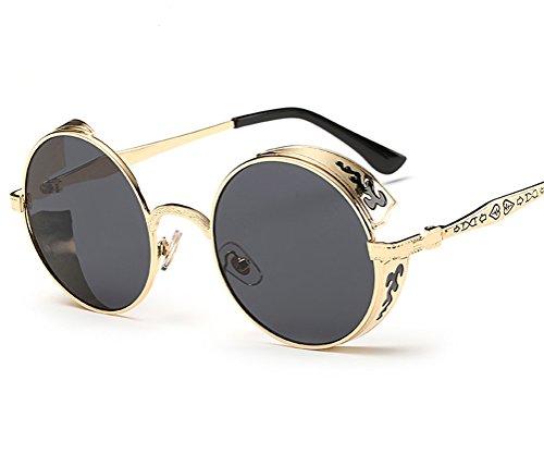 GAMT -  Occhiali da sole  - Uomo Gold Frame Grey Lens