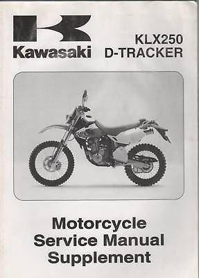 1999-2005 Kawasaki Motorcycle Klx250 & D-Tracker Serv.