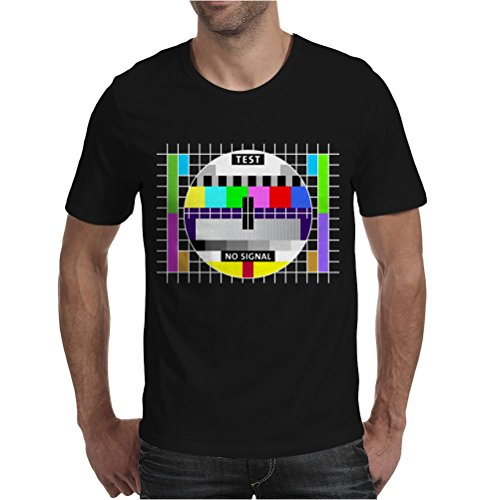 Men's Black Jersey Cotton Test Card Shirt. Medium Size