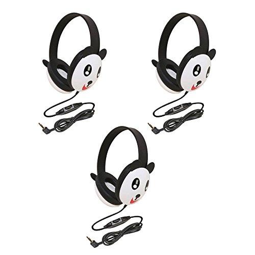 Califone 2810-Pa Listening First Stereo Headphone, Panda Motif - Pack Of 3