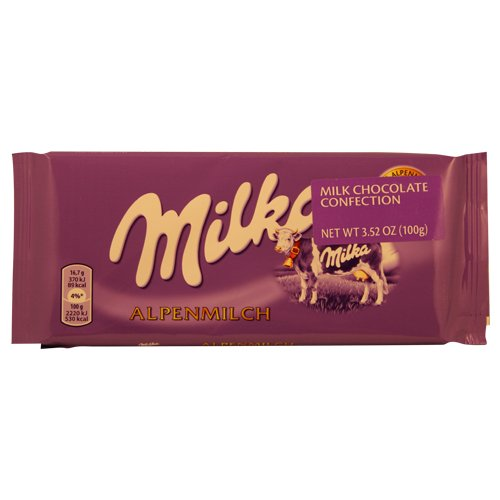 World's Best Milka Chocolate - Alpine Milk, 10 Bars