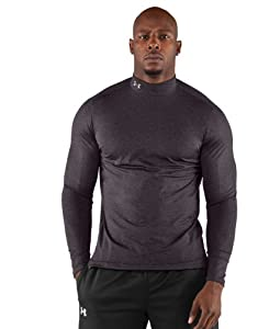 Under Armour Men's ColdGear® Fitted Long Sleeve Mock Extra Large Carbon Heather XL