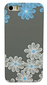 Parallel Universe Glow in the Dark Pretty Winter Flowers backcover for Apple iPhone 5/5s