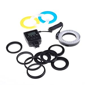 LED Macro Ring Flash Light Kit for Sony Alphy DSLR Cameras A500, A550, A560, A580, A900, A850, A200, A230, A290, A390, A33, A55, A65, A77