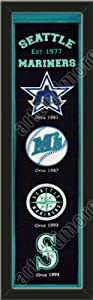 Heritage Banner Of Seattle Mariners-Framed Awesome & Beautiful-Must For A... by Art and More, Davenport, IA